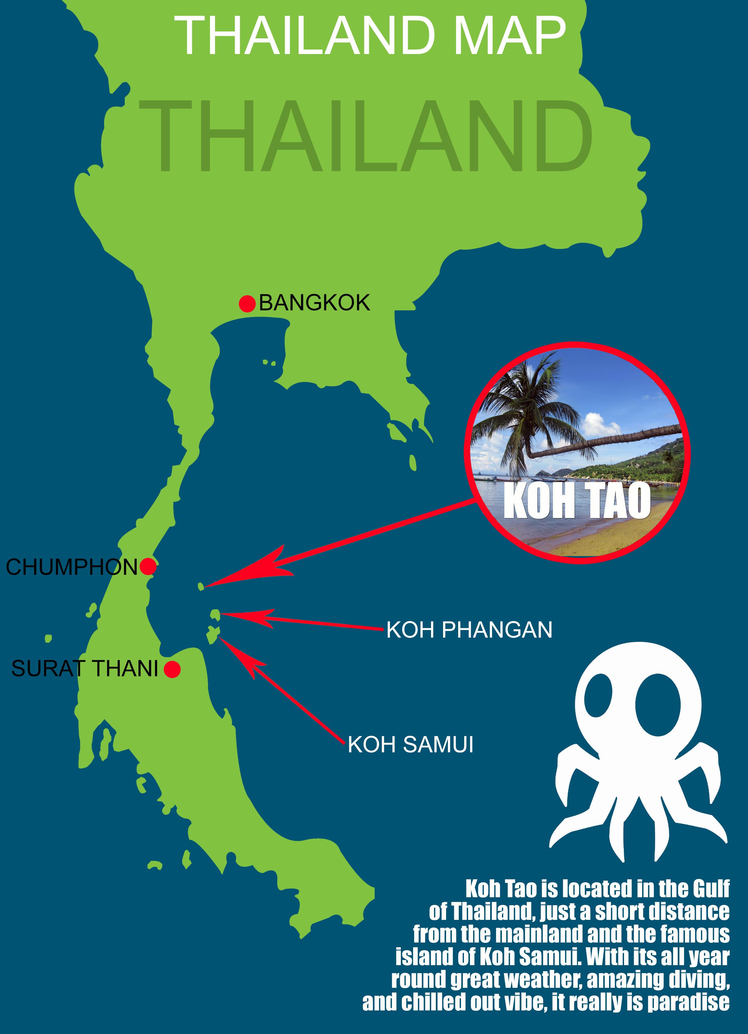Where Roctopus is Located Best Dive Shop Koh Tao Roctopus Dive