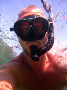Happy Dave snorkeling at Aow Leuk