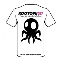 Roctopus White t-shirt - Back